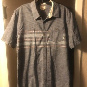 Vans Short Sleeve Button Down Shirt Men's Large